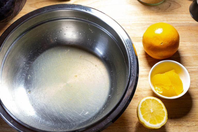 Orangensaft und Orangenfilets