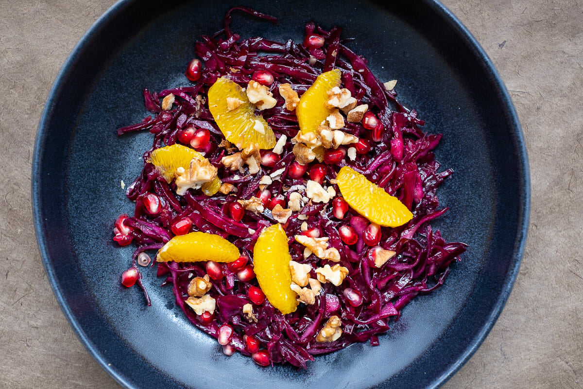 Red Cabbage Salad Recipe with +12 Ideas for Variations and Cooking Video