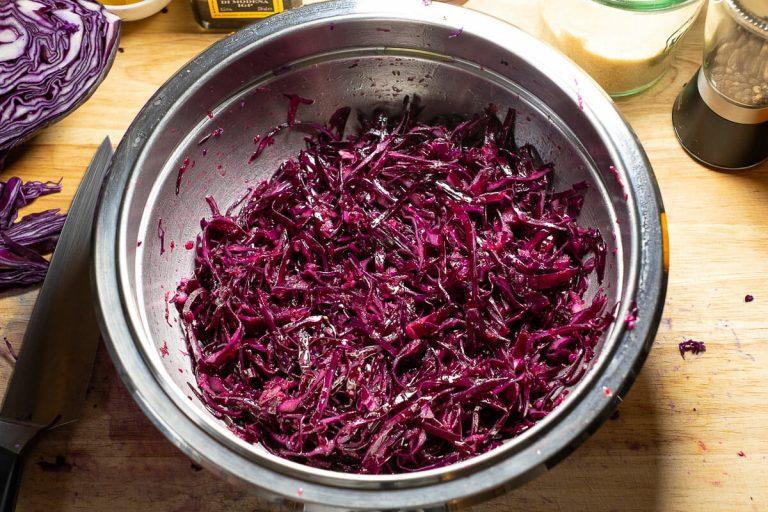 Rotkohlsalat mariniert