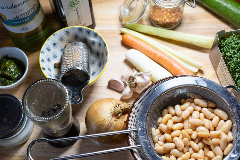 Zutaten Bohnensuppe