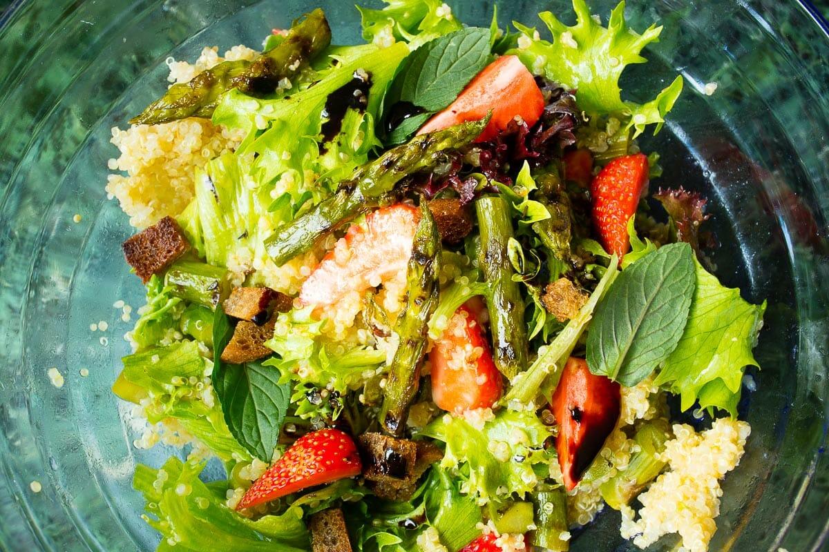 Couscous Salat mit Spargel