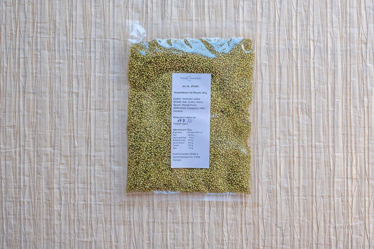 Spezial Furikake Topping gerösteter Sesam mit Wasabi 80 g
