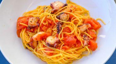 Spaghetti mit Pulpo