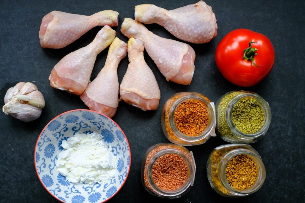 zutaten für hähnchenkeulen im ofen
