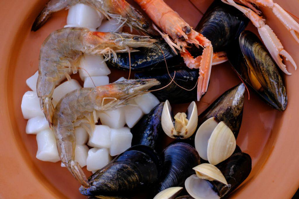 Meeresfrüchte Nahaufnahme