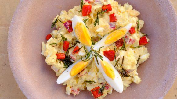 Kartoffelsalat mit Eier