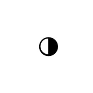 Schwarz und Weiß Modus Icon Erklärung